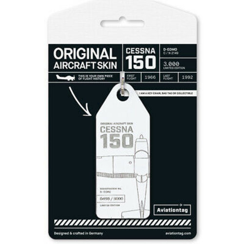 Aviationtag Aviationtag - Cessna 150 - D-EOMO (white)