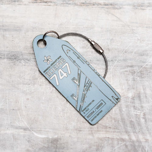 Aviationtag Aviationtag - Boeing 747 - B-HUJ (light blue)