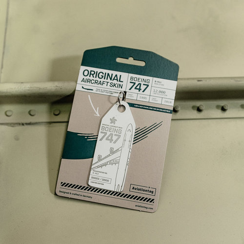 Aviationtag Aviationtag - Boeing 747 - B-HUJ (white)