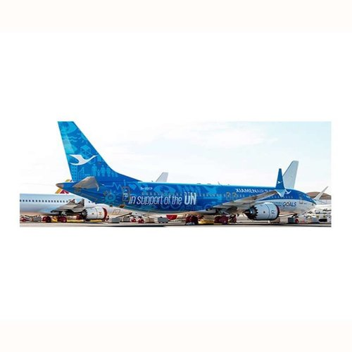 """JC Wings 1:200 Xiamen Airlines """"United Nations"""" B737-8MAX"""