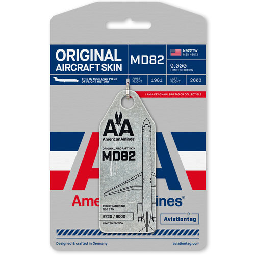Aviationtag Aviationtag - MD82 - N922TW (Blanc) - American Airlines
