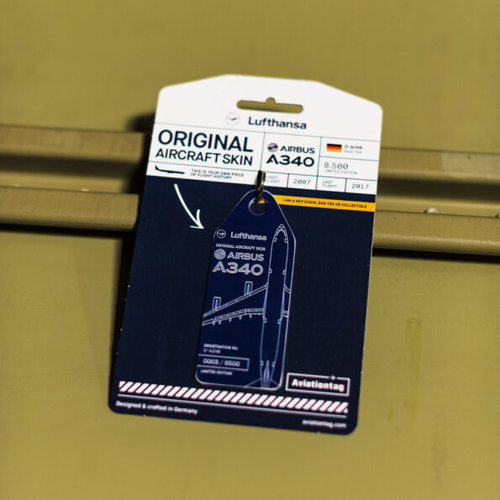 Aviationtag Aviationtag - Airbus A340 - D-AIHR - Lufthansa (blue)