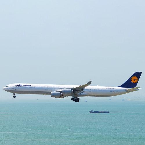 Aviationtag Aviationtag - Airbus A340 - D-AIHR - Lufthansa (blue - white)