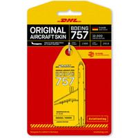 Aviationtag - Boeing 757 – D-ALEK - DHL (yellow)