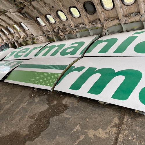 Aviationtag Aviationtag - Airbus A319 – D-ASTZ - Germania (white)