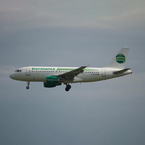 Aviationtag Aviationtag - Airbus A319 – D-ASTZ - Germania (dark green - white)