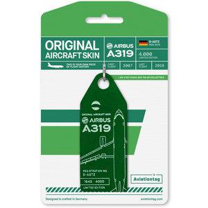 Aviationtag Aviationtag - Airbus A319 – D-ASTZ - Germania (dark green)