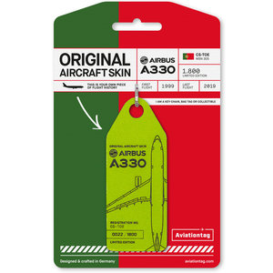 Aviationtag Aviationtag - Airbus A330 – CS-TOE - TAP Air Portugal (light green)