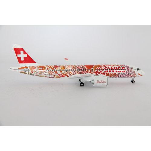 "Herpa 1:200 Swiss International Air Lines ""Fête des Vignerons"" A220-300"