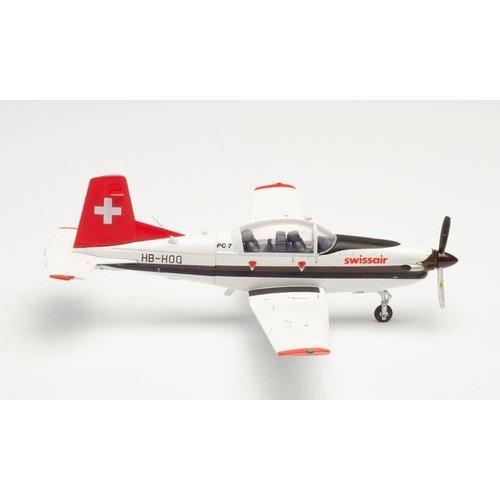 Herpa 1:72 Swissair Pilatus PC-7 Turbo Trainer
