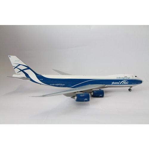 "JC Wings 1:200 Air Bridge Cargo ""Pharma Title"" B747-8F"