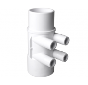 "waterway 2"" M/F manifold, with 4 3/4"" M+ ribbed barb ports"
