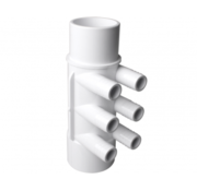 """waterway 2"""" M/F manifold with 6 x 3/4"""" M+ exits"""