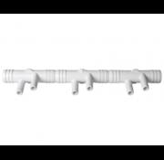 """waterway 3/4"""" M manifold met 6 3/8"""" barb exits"""