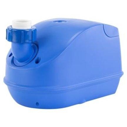 Blower zorgt voor de bubbels in het water