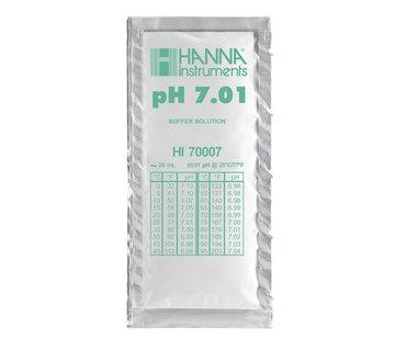 HANNAinstruments Kalibratievloeistof pH 7,01, 25 zakjes van 20ml.