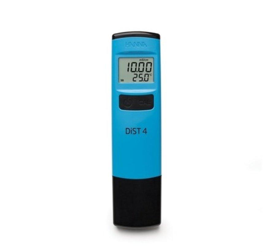 Dist 4 zakformaat geleidbaarheidstester, tot 19,99 mS/cm