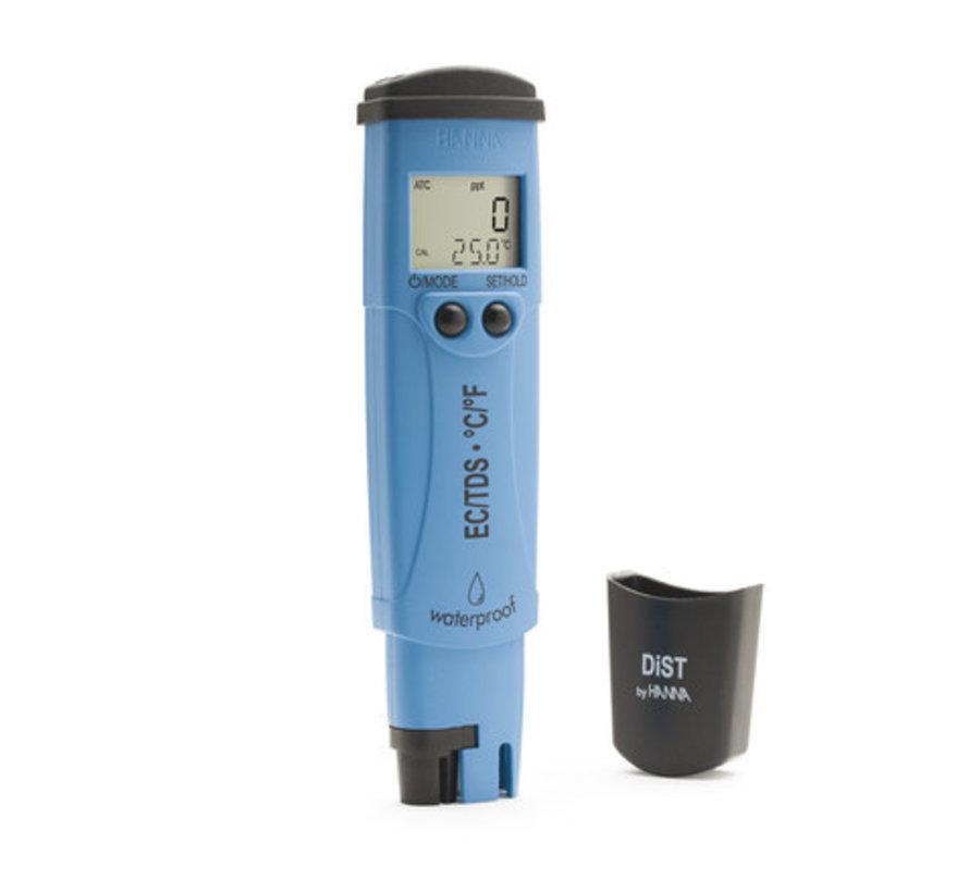 Waterbestendige zakformaat EC/TDS/temp.-tester, 20 mS/cm - 10 ppt (DIST6)