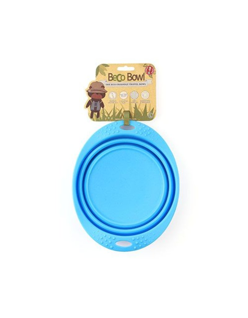 BECO PETS BECO TRAVEL BOWL BLUE