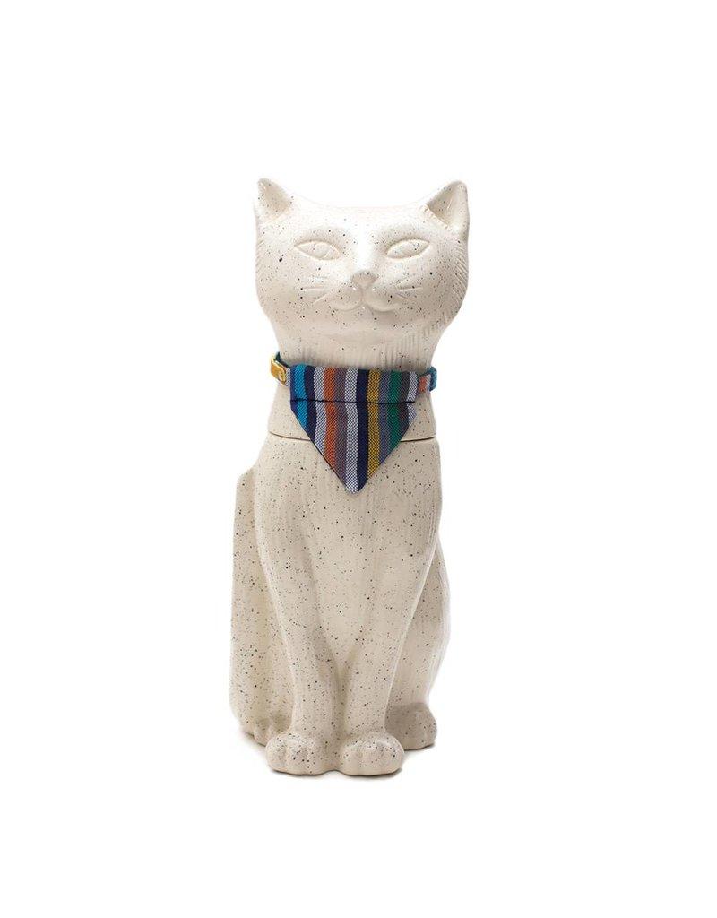 HIRO + WOLF CAT BANDANA KIKOY BOTANICAL STRIPE