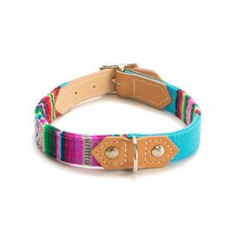 HIRO + WOLF Dog Collar Inca Blue