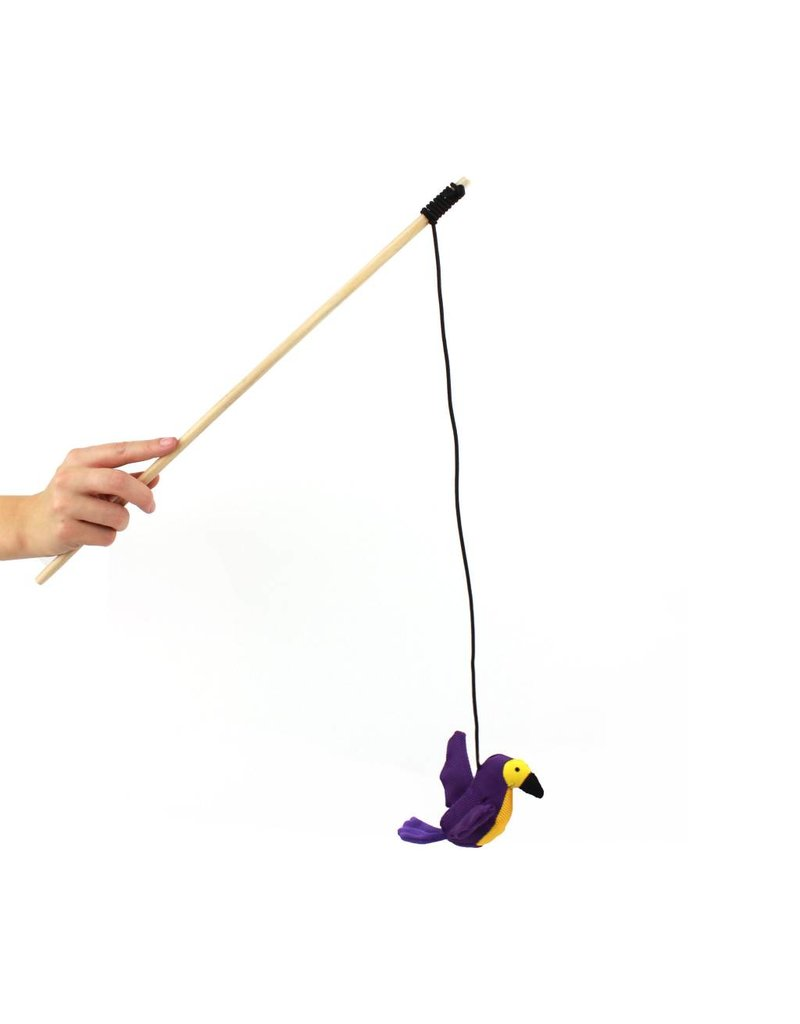 BECO PETS BECO  PLUSH  WAND TOY - HUMMINGBIRD