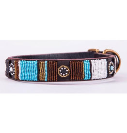 SIMBA JONES Collar Sj Blue Stripes & Circles