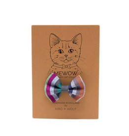 HIRO + WOLF Cat Bow Tie Kikoy Botanical Stripe