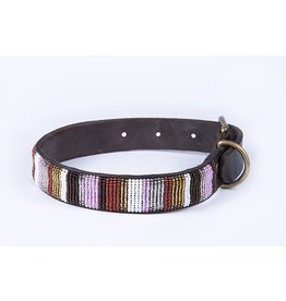 SIMBA JONES Collar Sj Pink/White/Brown/Gold/Silver