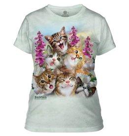 THE MOUNTAIN KITTENS SELFIE CAT ADULT LADIES T SHIRT