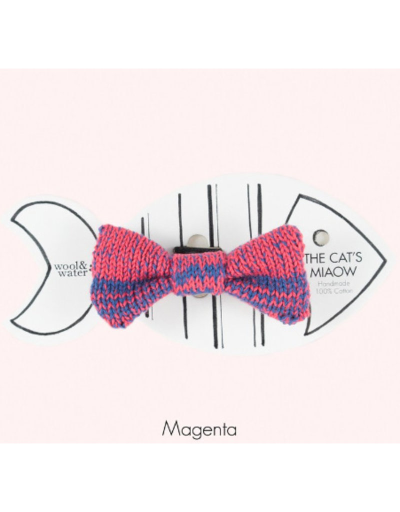 WOOL & WHISKERS BOW WOW TIE MAGENTA MIX
