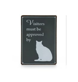 DESIGNED BY LOTTE Meta Text Board Cat Antr 14X20