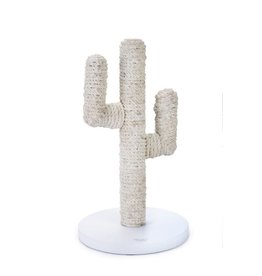 DESIGNED BY LOTTE Wood Scratch Pole Cactus White 35X35X60