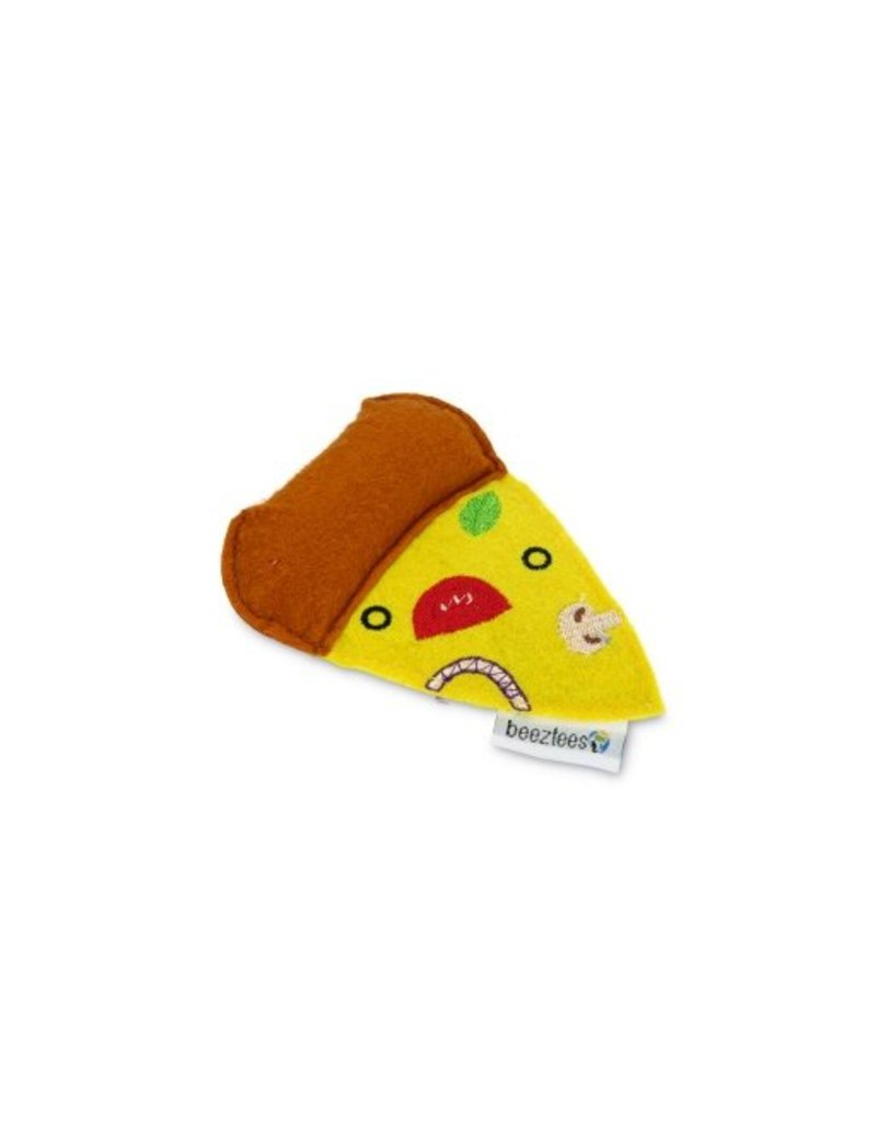 TEXTILE CAT TOY PIZZA YELLOW
