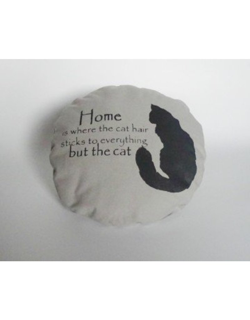 THE MAD CATTER CAT PILLOW ROUND