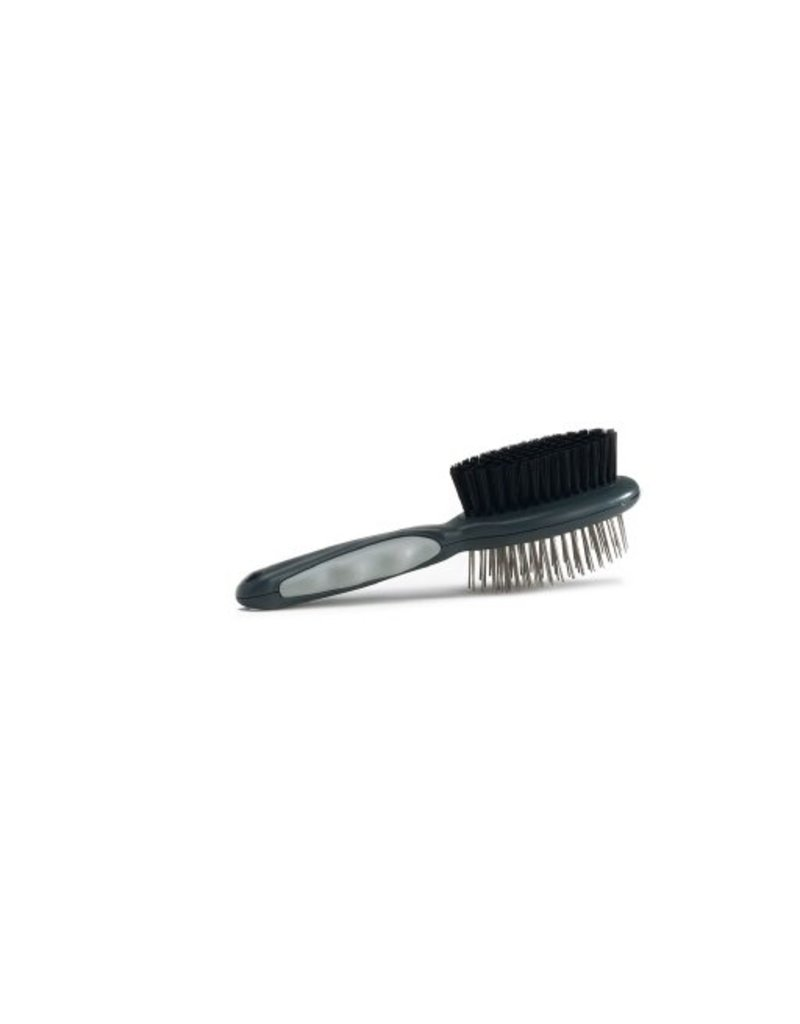 COMBI BRUSH FOR CATS GREY