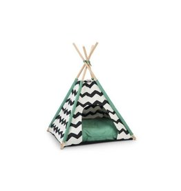 Tipi Tent Kioni Zwt/Wit 50X50X80