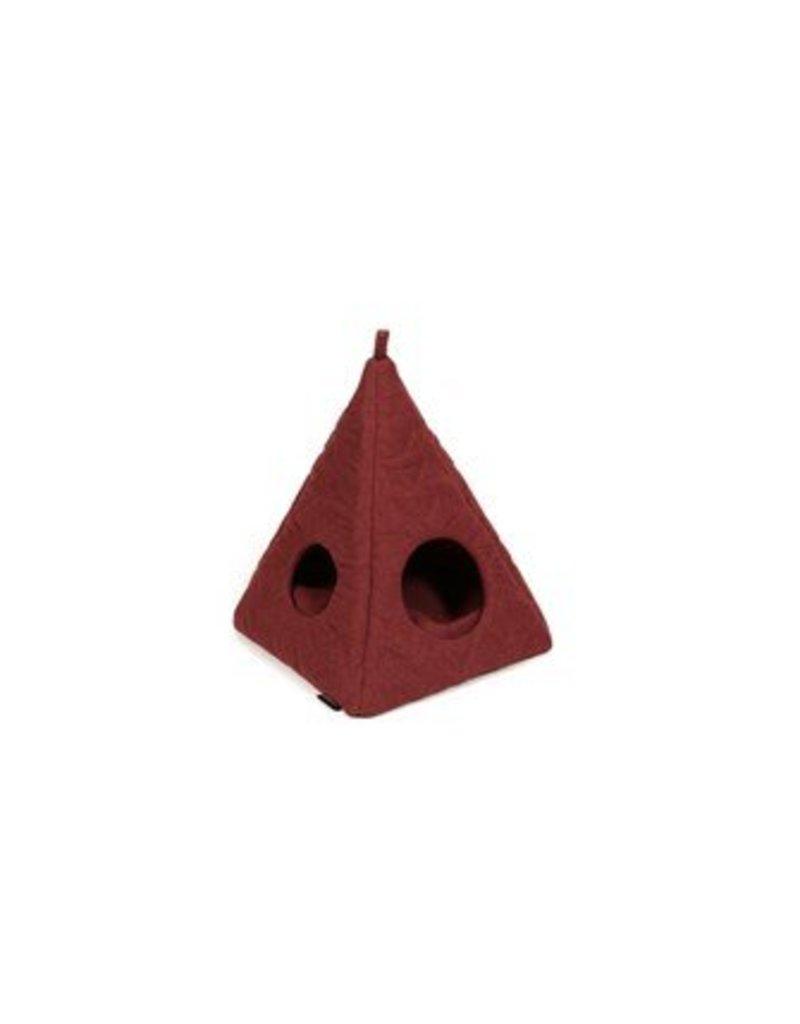51 DEGREES NORTH HELSINKI - CAT TIPI - DARK RED/QUILTED HERRINGBONE - 45X45X60CM