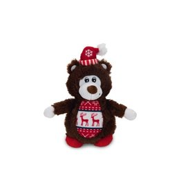 Plush Dog Toy Christmas Bear Brown