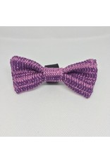 WOOL & WHISKERS BOW WOW TIE PURPLE MIX