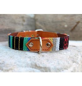 MESTIZO Dog Collar Bright Siesta + Bourbon