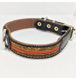 MESTIZO Dog Collar Tai Moutarde + Black