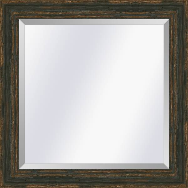 Brocante spiegel Brittany Zwart small 39mm