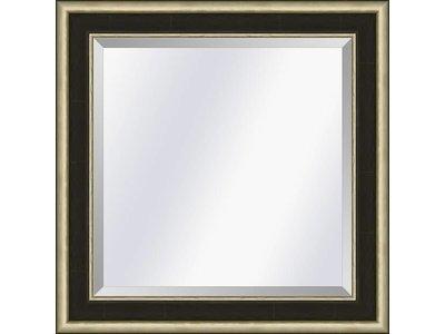 Barokspiegel.nl Spiegel Canaletto Ebbenhout-zilver small 45mm