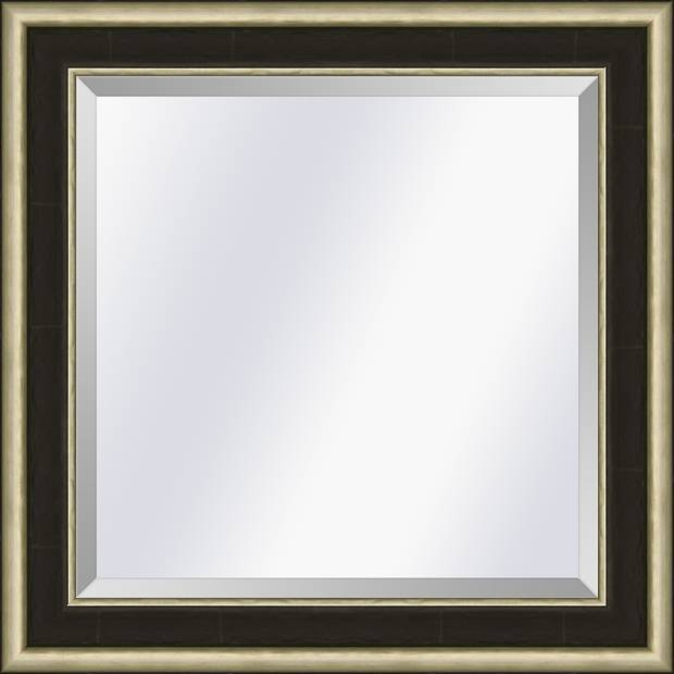Spiegel Canaletto Ebbenhout-zilver small 45mm