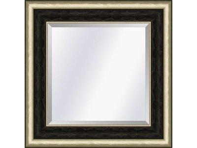 Barokspiegel.nl Spiegel Canaletto Ebenholz-Silber medium 70mm