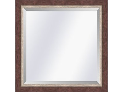 Barokspiegel.nl Mirror  Lucerne  Redbrown-silver  small 29mm
