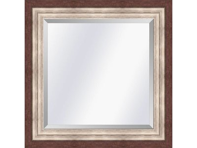 Barokspiegel.nl Mirror Lucerne Redbrown-silver medium 52mm