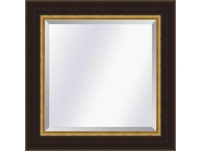 Barokspiegel.nl Mirror Academie Black-gold medium 53mm