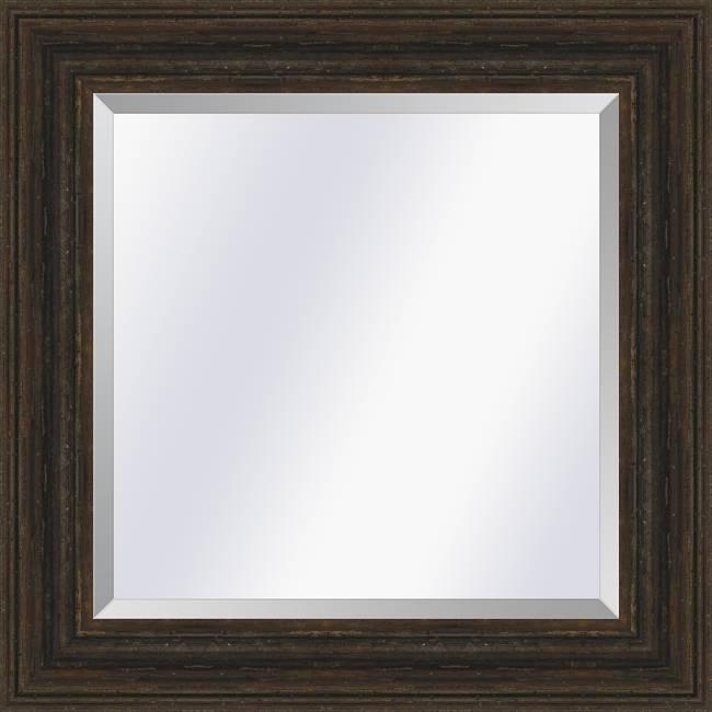 Brocante spiegel Sevilla Bruin eiken medium 57mm